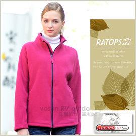【瑞多仕-RATOPS】女款 Thermolite 推毛防潑水夾克.輕量保暖外套.禦寒外套/ 質輕保暖.舒適透氣.易清洗 / DH6122 漿果紅色 V1