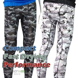 男性多 壓縮褲 緊身褲 新色深灰迷彩 包覆肌肉 降低 傷害