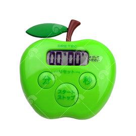 【艾佳】日本DRETEC蘋果計時器(綠色)/個