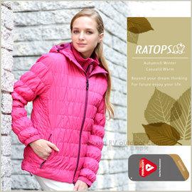 【瑞多仕-RATOPS】女款 Primaloft 保溫棉保暖透氣外套.輕量防風夾克.超潑水禦寒大衣/ 質輕保暖.舒適透氣.防污耐用 / RAD730 桃粉紅色