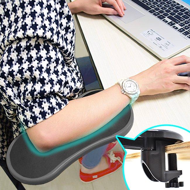 桌上手臂支撐架C081-006電腦支架子.桌用旋轉滑鼠托架.護腕墊護臂托手托板.人體工學手腕手肘護腕護手.3C週邊推薦哪裡買