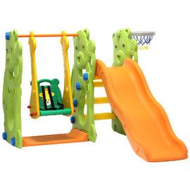 ~小崴Life~第 小熊長滑道溜滑梯 鞦韆 籃框 ^( ^) ~自己DIY組裝