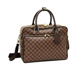 Louis Vuitton LV N23252 ICAR 棋盤格紋附背帶手提多 包 停產