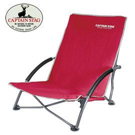 丹大戶外用品~Captain Stag~ 鹿牌 UC~1505 低腳椅^(紅^) 折疊椅