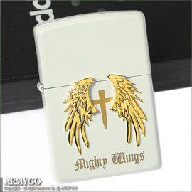 ZIPPO原廠打火機-日系-Mighty Wings系列- 珍珠白色款