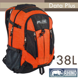 【犀牛 RHINO】Data Plus 38L多功能隨身背包.運動背包.筆電背包.自行車背包.上班上課背包.後背包/224 橘/暗灰