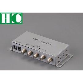 保誠科技^~1進4出視頻分配器 104V 視訊分配器 1對4放大器 訊號放大器 保全監視門