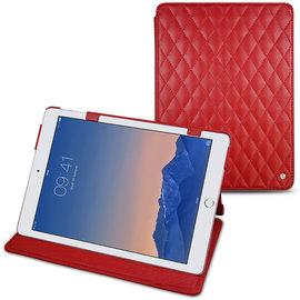 紅色菱格 NOREVE 蘋果 Apple iPad Air 2「 iPad Air2」 2代 第二代 磁扣式皮革保護套 真皮皮套 smart cover  訂製 法國頂級平板皮套
