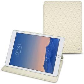 白色菱格 NOREVE 蘋果 Apple iPad Air 2「 iPad Air2」 2代 第二代 磁扣式皮革保護套 真皮皮套 smart cover  訂製 法國頂級平板皮套