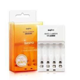 SANYO三洋 智慧型極速充電器SYNC-N01★可充3號或4號電池★雙獨立LED燈顯示★台灣製造 品質保證