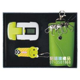 ^~詔暘禮贈品^~ ~ T08綜合 類~AE72 LED燈計步器 卡通指甲刀 皮質鑰匙包