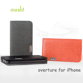【A Shop 高雄店】Moshi Overture for iPhone 5S/5 側開卡夾型保護套◆iPhone SE/5S/5專用