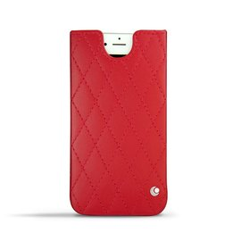 紅色菱格 NOREVE Apple iPhone 6 plus iPhone6 iPhone6+ 直立式 手機袋  抽取式 手機套 保護套 真皮 皮革 手工 訂製 法國頂級手機皮套