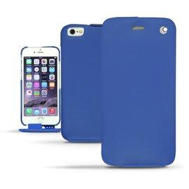海藍色 NOREVE iPhone6 iPhone 6 plus i6 i6+ 5.5吋 4.7吋 下掀式皮套 保護套 手機套 真皮 手工 訂製  腰掛  iPhone6+ 法國頂級手機皮套