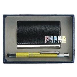 ^~詔暘禮贈品^~ ~ T08綜合 類~ 組~AE74 皮質名片盒 金屬觸控筆 ×1組