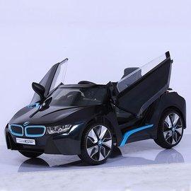 【店面購買6600元】『CK26』原廠寶馬BMW I8 雙開門電動車(附遙控)(黑)W480QG(緩起步)【贈 動物家族拉拉樂積木】