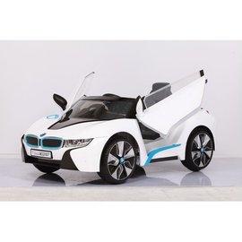 【店面購買6600元】『CK26』原廠寶馬BMW I8 雙開門電動車(附遙控)(白)W480QG(緩起步) 【贈 動物家族拉拉樂積木】