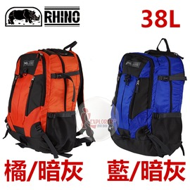 探險家戶外用品㊣224 犀牛RHINO Data Plus 38公升背包 (多色可選 單款販售) 上課書包 自助旅行背包