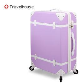 ~Travelhouse~ 歲月 20吋ABS復古防刮旅行箱^(羅藍紫^)