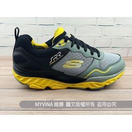 【MYVINA 維娜】SKECHERS 男鞋 SRR動力回彈 遙遙鞋 健走鞋 運動鞋 足弓鞋 (黑黃) 999636BKLM