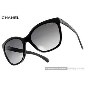 CHANEL 太陽眼鏡 CN5288Q C501S8  黑~ 格紋  菱格紋 貓眼款 墨鏡