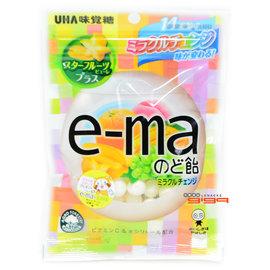 【吉嘉食品】UHA味覺糖 e-ma綜合水果喉糖(袋裝) 1包50公克75元,日本進口,另有旅行者6號水果乾{4514062212234:1}