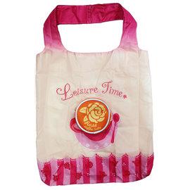 ~Full福轉包~零錢包 袋^(環保袋^)-咖啡奶花系列╱玫瑰