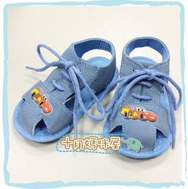 十月媽咪屋~KP166300~02~外貿寶寶防滑學步鞋汽車藍色綁帶涼鞋 童鞋 童涼鞋 嬰兒