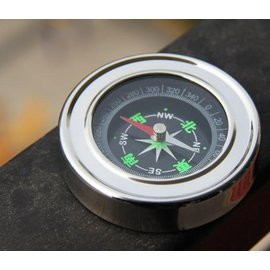 磁浮式 指南針/指北針 可擕式戶外登山/旅遊指向必備 **高檔不銹鋼** [BOM-00021]