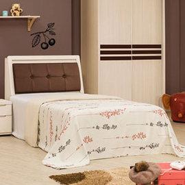 ~Homelike~愛麗絲床組~單人3.5尺^(不含床墊^) 單人床 床組 床台 床頭箱