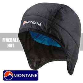 【英國 Montane】FireBall Primaloft 極輕量火球防潑水科技羽絨保暖帽(附收納袋/僅34g)/防風透氣護耳帽(非 OR SmartWool)_ HFIHA 尊爵黑