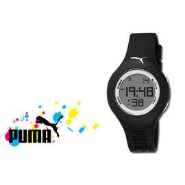 ~時間道~〔PUMA〕~買就送發光小鬧鐘~Loop~S系列圓雙色電子腕錶 黑^(PU910