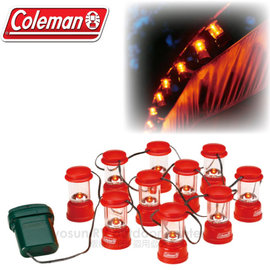 【美國Coleman】新款 LED串燈.裝飾燈.露營燈.電子燈.聖誕燈飾.小吊燈.氣氛燈/10個小燈.2段式亮度調整/CM-9359