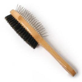 美國Bass 梳具系列~豬鬃梳按摩梳兩用梳子~長毛短毛狗貓都 ~!