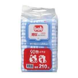 培寶 bab 護膚柔濕巾90抽 (4包入)