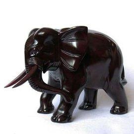 T雅軒齋 紅木大象 木雕木象擺件 花梨木 紅木工藝品 吸財寶象