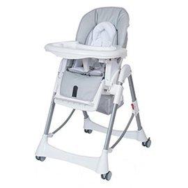 【紫貝殼】『DE01-2』Britax - Steelcraft Messina DLX 高低可調多功能餐椅(灰白色) 台灣製