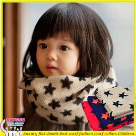 兒童 星星 造型 圍巾 針織 毛線 脖圍【HH婦幼館】