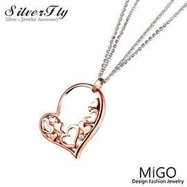 ~ SilverFly銀火蟲銀飾 ~~MiGO~快樂白鋼項鍊~玫瑰金