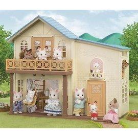 ~森林家族~藍頂陽台房屋  只含本體房屋 不含人及傢俱 _ EP20970
