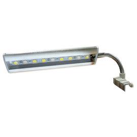 ~泡水族~超薄超亮LED夾燈^(S管^)17CM ^(藍白燈^)