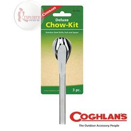 探險家戶外用品㊣8322 加拿大coghlan's 餐具組 不鏽鋼湯匙+叉子+刀子 刀叉匙餐具組 登山 露營