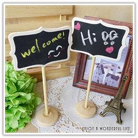 【Q禮品】A2293 木質立式小黑板/原木黑板/留言板/備忘錄/辦公用品/活動佈置/婚禮