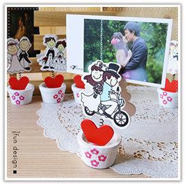 【winshop】B2296 飛機木婚禮新人名片夾/新娘新郎小木夾/謝卡夾/桌上型名片夾/MEMO夾/情侶/情人節/婚禮佈置