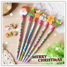【winshop】A2310 聖誕鉛筆橡皮擦文具組/聖誕禮物/聖誕老公公/可愛聖誕文具組/鉛筆/造型橡皮擦