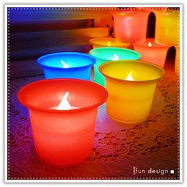 【winshop】B2299 LED酒杯蠟燭燈/彩色擬真蠟燭燈/油燈/生日蠟燭/小夜燈/居家婚禮佈置/LED燈/情境燈