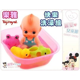 麗嬰兒童玩具館~日本Toyroyal 樂雅-動物樂園快樂洗澡組(大)軟膠啾啾.安全無毒