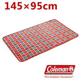 探險家戶外用品㊣CM-21167 美國Coleman 刷毛毛毯(紅格紋) 145*95cm 保暖毯 抱枕毯 車用毯 睡墊 多用毯 帳篷內毯子