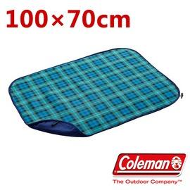 探險家戶外用品㊣CM-21169 美國Coleman 戶外膝蓋用保暖毯(綠格紋) 100*70cm 刷毛毛毯 披肩毯 多用毯 帳篷內毯子