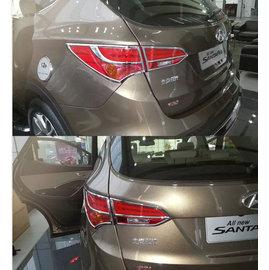 ~車王小舖~ Hyundai 2014款 新Santa Fe鍍鉻後燈框 新IX45鍍鉻尾燈